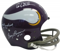 "Vikings ""Purple People Eaters"" Full-Size Throwback TK Suspension Helmet Signed by (4) with Alan Page, Carl Eller, Jim Marshall & Gary Larsen (JSA COA)"
