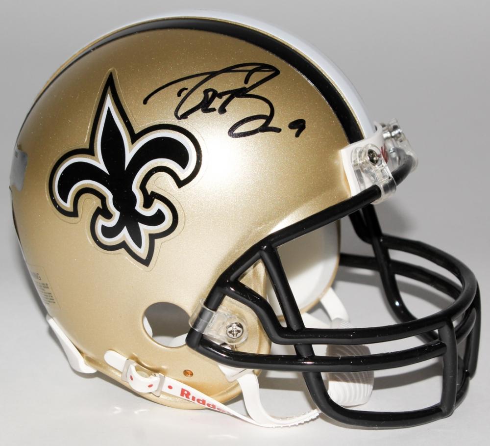 75d3f00e2 Drew Brees Signed Saints Mini-Helmet (Radtke COA   Brees Hologram) at  PristineAuction