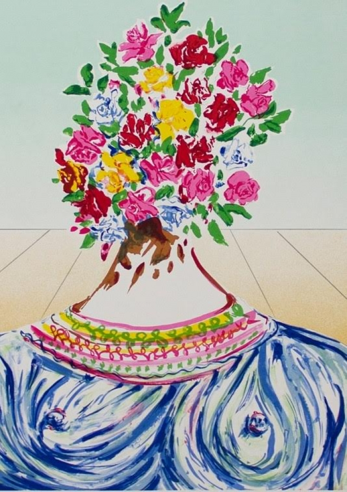 "Salvador Dali Signed ""The Flowering of Inspiration - Gala en Fleurs"" LE 1978 Lithograph on Arches Paper #331/350 at PristineAuction.com"