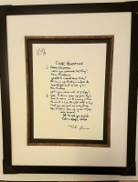 "John Lennon Limited Edition Serigraph ""Dear Prudence"" Published by Yoko Ono & Bag One Editions 1995 from the Original 1968 Hand Written Lyrics"