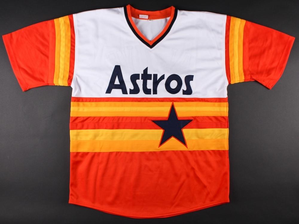 fe6c1aedda6 Jose Altuve Signed Astros Rainbow Throwback Jersey (JSA COA   Radtke COA)  at PristineAuction