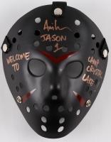 "Ari Lehman Signed Jason ""Friday the 13th"" Matte Black Custom Hockey Mask Inscribed ""Jason 1"" & ""Welcome To Camp Crystal Lake!"" (PA COA)"