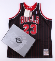 Michael Jordan Signed Bulls Authentic Mitchell & Ness Jersey (UDA COA) at PristineAuction.com