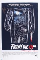 "Ari Lehman Signed ""Friday The 13th"" 24x36 Movie Poster Inscribed ""Jason 1"" (PA COA)"