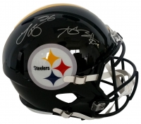 Antonio Brown and Le'Veon Bell Signed Steelers Full-Size Speed Helmet (JSA COA)