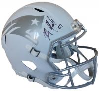 Rob Gronkowski Signed Patriots Full-Size Matte White Ice Speed Helmet (SI COA)