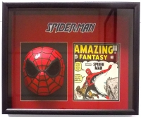 Stan Lee Signed Spider Man 19x22 Custom Framed Shadow Box Display (JSA COA)
