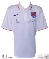 Tim Howard & Clint Dempsey Signed Authentic Team USA Soccer Jersey (JSA COA & Steiner Hologram)
