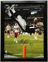 Rob Gronkowski Signed Patriots 28x36 Custom Framed Canvas (JSA COA)