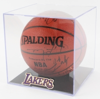 2000-01 Lakers Basketball Team-Signed by (16) with Kobe Bryant, Shaquille O'Neal, Derek Fisher with Display Case (PSA LOA) at PristineAuction.com