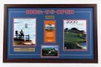 100th Anniversary U.S. Open 32x20 Custom Framed 2000 U.S. Open Ticket Display