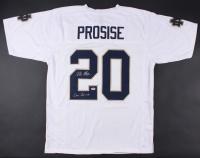 "C.J. Prosise Signed Notre Dame Fighting Irish Jersey Inscribed ""Go Irish"" (PSA COA)"
