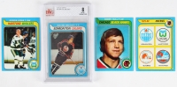 1979-80 Topps Complete Set of (264) Hockey Cards with #18 Wayne Gretzky RC (BVG 8), #185 Bobby Hull, #175 Gordie Howe, #261 New NHL Entires Check List with Binder at PristineAuction.com