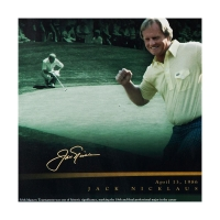 "Tiger Woods & Jack Nicklaus Signed ""Masterful"" 18x36 Photo (UDA COA) at PristineAuction.com"