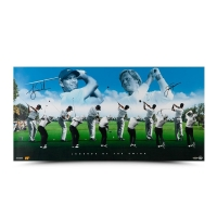 "Tiger Woods & Jack Nicklaus Signed ""Legends of the Swing"" 18x36 Photo (UDA COA) at PristineAuction.com"
