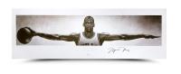 """Michael Jordan Signed Bulls """"Wings"""" 23x72 Photo (UDA COA)"""