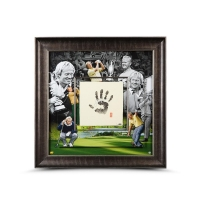 Jack Nicklaus Signed LE 36x36 Custom Framed Tegata Display (UDA COA) at PristineAuction.com