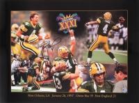 Brett Favre Signed Packers Super Bowl XXXI 18x24 Lithograph (Favre COA)