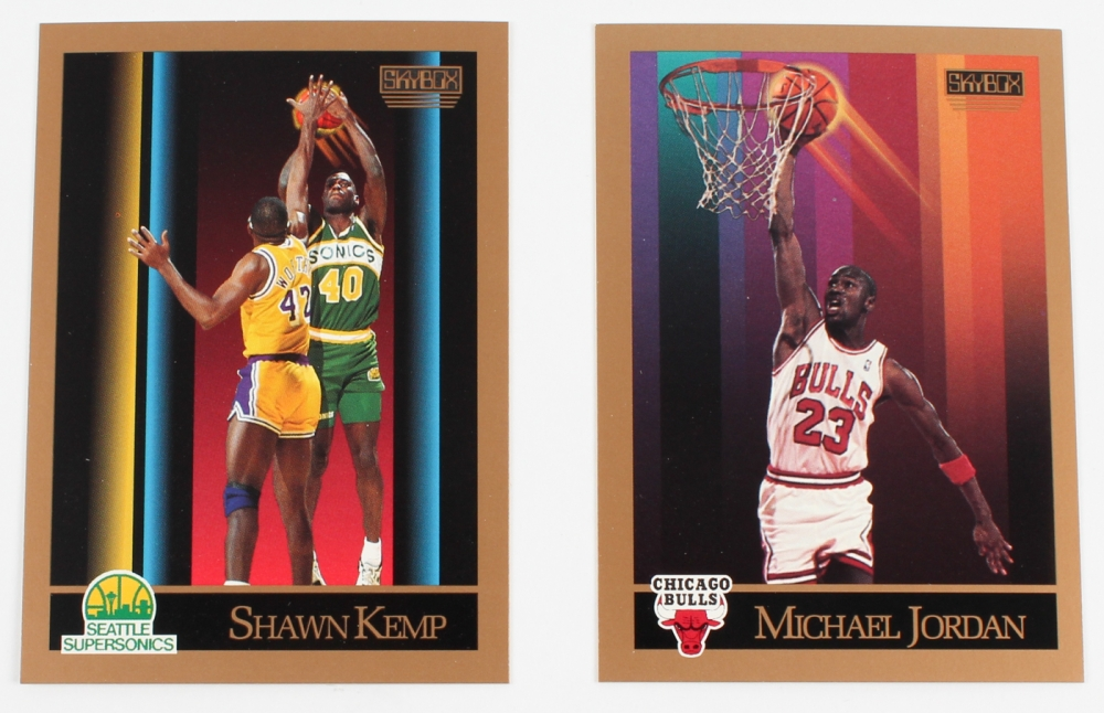 06b4bce6886 Complete Series 1 of (300) 1990-91 Skybox Basketball Cards with  41