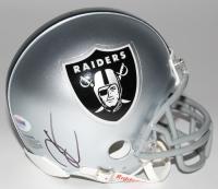 Derek Carr Signed Raiders Mini Helmet (PSA COA)