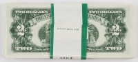 Lot of (100) Uncirculated Sequentially Numbered 1963 Red Seal $2 Two Dollar Bills at PristineAuction.com