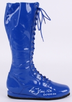 """Ric Flair Signed Wrestling Boot Inscribed """"16x Wooooo"""" (JSA) at PristineAuction.com"""
