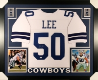 Sean Lee Signed Cowboys 35x43 Custom Framed Jersey (JSA)
