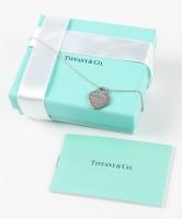 Tiffany & Co. Crystal Heart Pendant Necklace