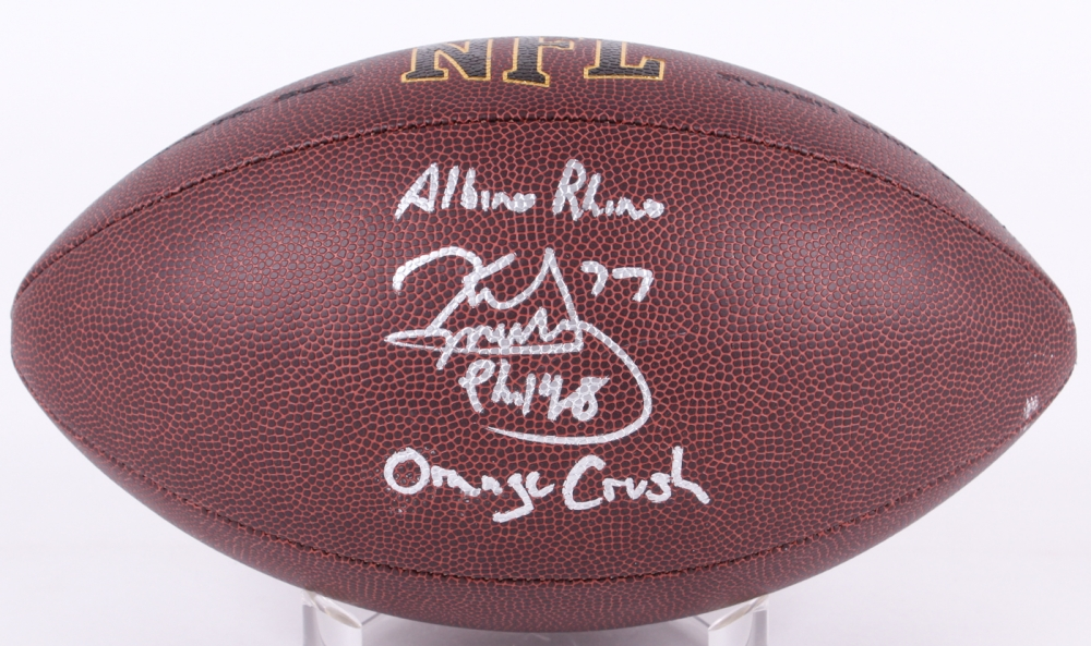 Karl Mecklenburg Signed NFL Football Inscribed