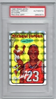 Michael Jordan Signed Ultra Rare 1985 Prism/Jewel Stickers #7 (PSA Authentic & UDA COA)