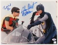 "Adam West & Burt Ward Signed ""Batman"" 11x14 Photo Inscribed ""Batman"" & ""Robin"" (PSA COA & GA Hologram)"