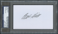 Clint Hill Signed 3x5 Index Card (PSA Encapsulated)
