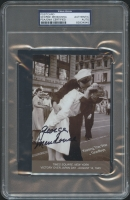 George Mendonsa Signed 4x6 Postcard (PSA Encapsulated)