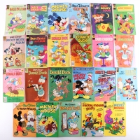 Lot of (23) Vintage Walt Disney Comic Books with Mickey Mouse, Donald Duck