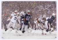 "Tom Brady Signed LE Patriots ""2001 AFC Playoff"" 16x23 Glass Shadowbox (Steiner COA & TriStar Hologram) at PristineAuction.com"