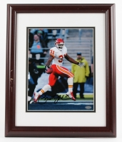 Priest Holmes Signed Chiefs 13x16 Custom Framed Photo (Mounted Memories COA)