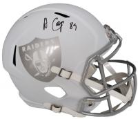 Amari Cooper Signed Raiders Full-Size Matte White Ice Speed Helmet (JSA COA)