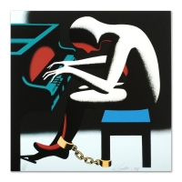 "Mark Kostabi Signed ""I Did It Steinway"" Limited Edition 18x18 Serigraph at PristineAuction.com"
