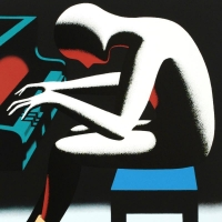"""Mark Kostabi Signed """"I Did It Steinway"""" Limited Edition 18x18 Serigraph at PristineAuction.com"""