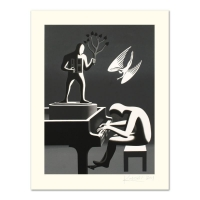 """Mark Kostabi Signed """"Cyclone Variations"""" Limited Edition 27x35 Serigraph"""
