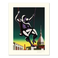 """Mark Kostabi Signed """"Above The World"""" Limited Edition 27x35 Serigraph"""
