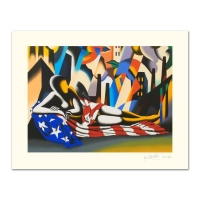 """Mark Kostabi Signed """"America"""" Limited Edition 27x35 Serigraph"""