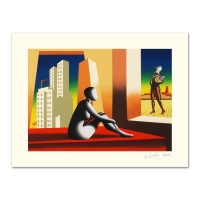 """Mark Kostabi Signed """"Windows Of Opportunity"""" Limited Edition 27x35 Serigraph at PristineAuction.com"""