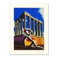 """Mark Kostabi Signed """"Eternal City"""" Limited Edition 27x35 Serigraph"""
