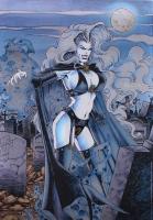 1994 Lady Death 19x27 Chromium Poster