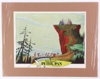 "Walt Disney ""Peter Pan"" 14x18 Custom Matted Lobby Card Display"