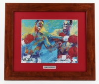 Mike Spinks & LeRoy Neiman Signed 18x21 Custom Framed Print Display (JSA COA)
