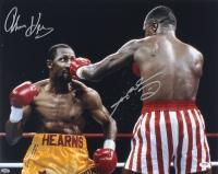 "Sugar Ray Leonard & Thomas ""Hitman"" Hearns Signed 16x20 Photo (PSA Hologram)"