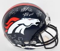Denver Broncos Team-Signed Super Bowl 50 Full-Size Authentic Pro-Line Helmet with (15) Signatures Including Peyton Manning, Emmanuel Sanders, Max Garica, Von Miller, Brandon Marshall (JSA COA & Fanatics Hologram)