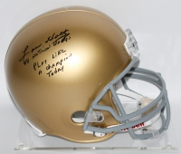 "Lou Holtz Signed Notre Dame Full-Size Helmet Inscribed ""88 National Champs"" & ""Play Like A Champion Today"" (JSA COA & Denver COA)"